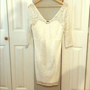 Lace quarter sleeved dress